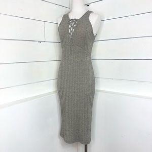 ASTR Bodycon Sweater Midi Dress